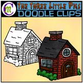 3 Little Pigs Clipart | Brick House