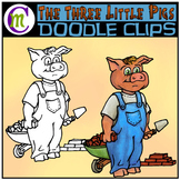 3 Little Pigs Clipart | Bricklayer Pig