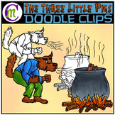 3 Little Pigs Clipart | The Wolf!