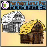 3 Little Pigs Clipart | Wood House