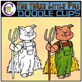 3 Little Pigs Clipart | Farmer Pig