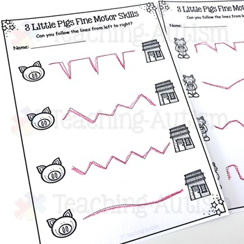 3 Little Pigs Fine Motor Skills Practice