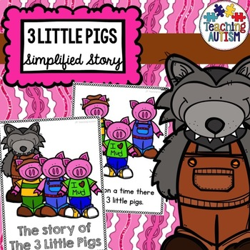 3 Little Pigs Flashcard Story