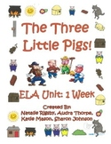 3 Little Pigs, Fractured Fairy Tale, ELA Unit