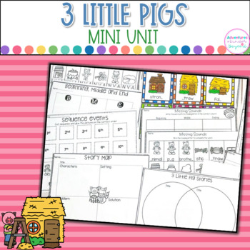 3 Little Pigs-Literacy Fun