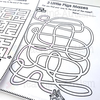 3 Little Pigs Mazes