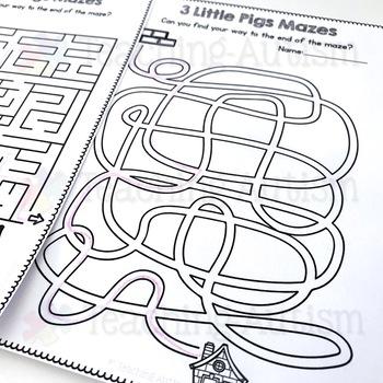 3 Little Pigs Mazes