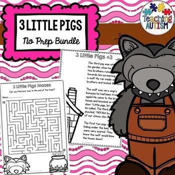 3 Little Pigs No Prep