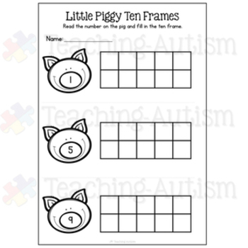 3 Little Pigs Math Worksheets