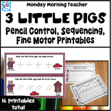 3 Little Pigs Pencil Control Activities pre-writing tracin