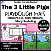 3 Little Pigs Playdough Mat Activities, Numbers 1-20, Stor