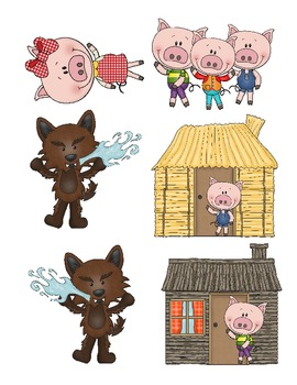 3 Little Pigs Pop-up Book Plus Map & Writing