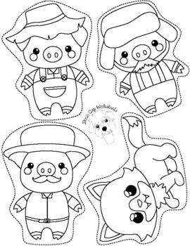 3 Little Pigs Puppets