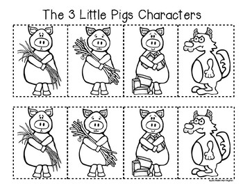 3 Little Pigs {Retelling a Story} Storyboard and Character Folktale Fun!