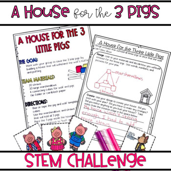 3 Little Pigs STEM Activity RL.2.2, 3.2 & 2.3, 3.3