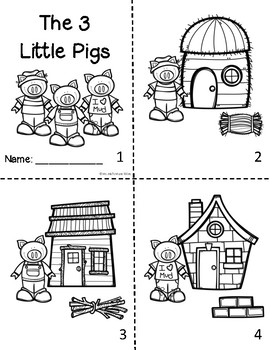 3 Little Pigs Sequencing Mini-Booklet