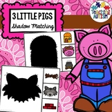3 Little Pigs Shadow Matching Task Cards