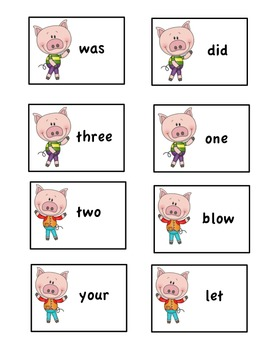 3 Little Pigs Sight Word game