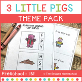 3 Little Pigs Preschool Theme Pack - Kindergarten
