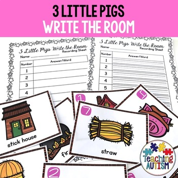 3 Little Pigs Write the Room