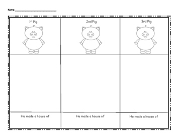 3 Little Pigs Writing Activity