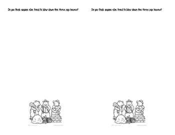 3 Little Pigs Writing Extension