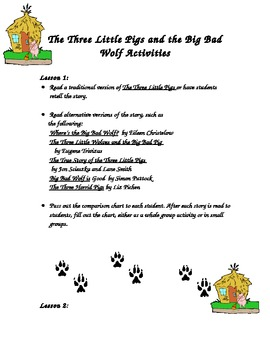 3 Little Pigs and Big Bad Wolf  Activity for Older Students