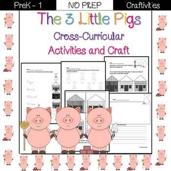 3 Little Pigs cross-curricular activities and craft