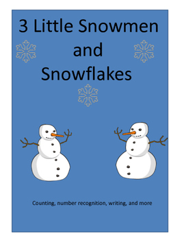 3 Little Snowman and Snowflake Math Activities