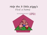 3 Little pigs basic shapes and literacy activity, incorpor