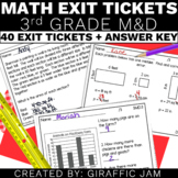3rd Grade Math Exit Tickets for Every MD Standard