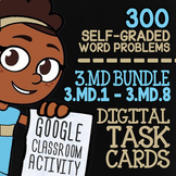 3.MD.1-3.MD.8 Self-Graded Google Classroom™ Measurement Activities | 3rd Grade