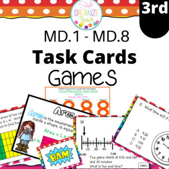 3.MD.1-8 Measurement and Data Math Task Cards