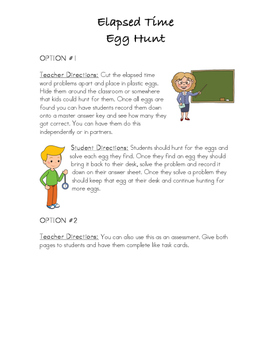 3.MD.1 Elapsed Time Egg Hunt