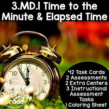 3.MD.1 -Task Cards, Assessments, Centers and More