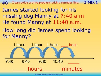 3.MD.1 Grade 3 Math Interactive Test Prep—TIME WORD PROBLEMS