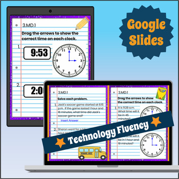 3.MD.1 Interactive Notebook: Telling Time & Elapsed Time ⭐ Digital