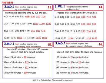 3.MD.1 Math 3rd Grade NO PREP Task Cards—WHAT TIME IS IT? PRINTABLES
