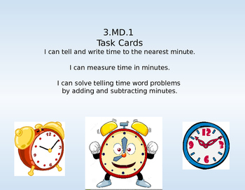 3.MD.1 Task Cards
