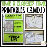 Telling Time & Elapsed Time Printable Worksheets