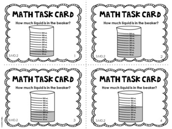 3 md 2 3rd grade math task cards measurement mass and liquid volume. Black Bedroom Furniture Sets. Home Design Ideas