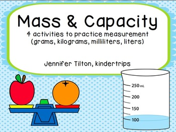 3.MD.2 Mass and Capacity