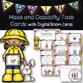 3.MD.2 Mass and Capacity Task Cards with Digital Boom Card