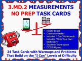 3.MD.2 Math 3rd Grade NO PREP Task Cards—MEASUREMENTS PRINTABLES