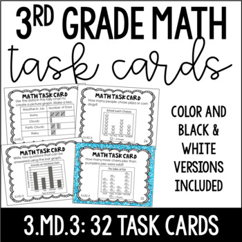 3 Md 3 3rd Grade Math Task Cards Bar Graphs And Picture Graphs