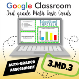⭐ GOOGLE CLASSROOM ⭐ 3.MD.3 Task Cards ⭐ Bar Graphs and Picture Graphs