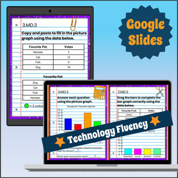 3.MD.3 Interactive Notebook: Bar Graphs and Pictographs⭐ Digital