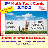 3.MD.3 Math Interactive Test Prep: Bar Graphs & Picture Graphs in 3 Formats