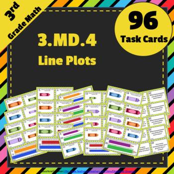 3.MD.4 Task Cards: Measurement & Line Plots Task Cards 3MD4: Line Plots, Measure