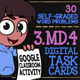 3.MD.4 Fractions on a Line Plot Task Cards ★ Self-Graded Google Classroom